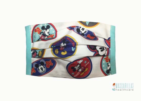 Mascarilla Circles Mickey Mouse